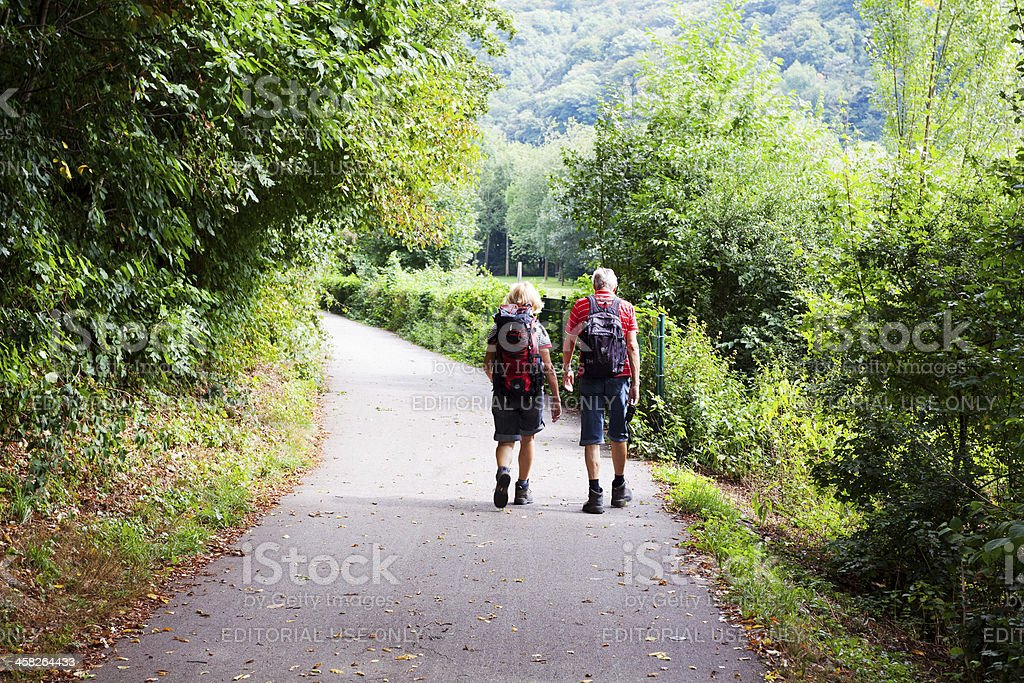 Trekking along Ruhr royalty-free stock photo