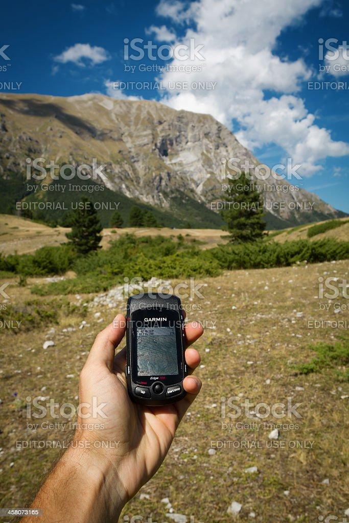 Trekking Gps Outdoor Orientering stock photo