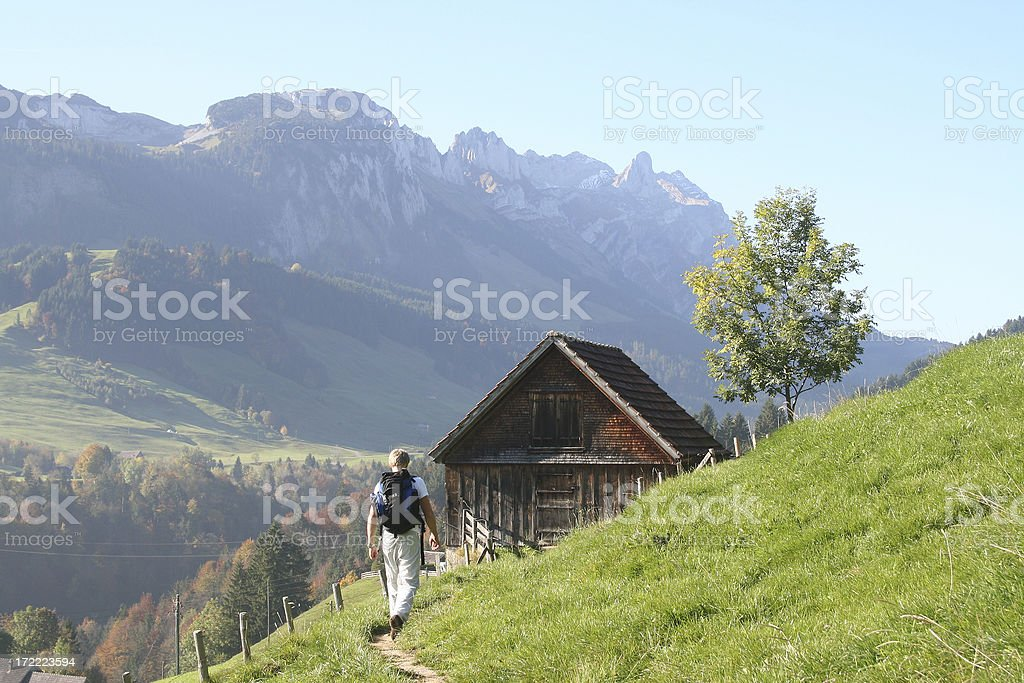 Trekking in appenzell 2 royalty-free stock photo