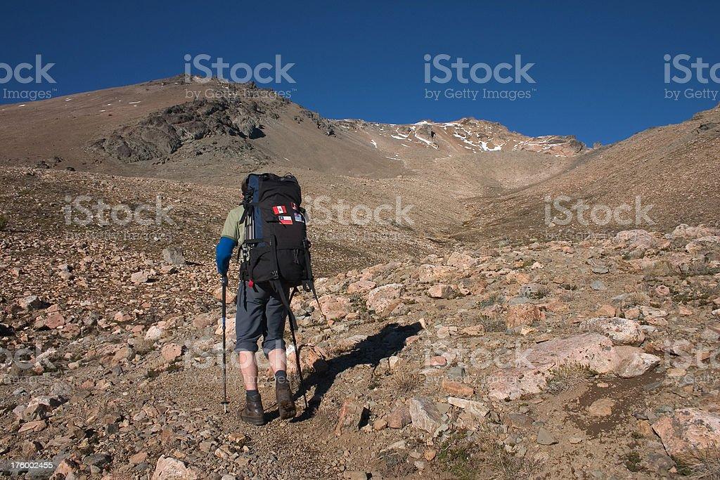 Trekking in Argentina royalty-free stock photo