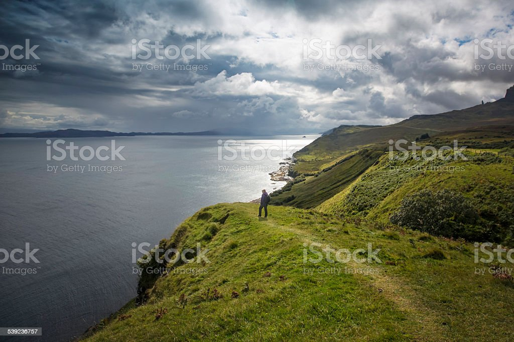 Trekking in Isle of Skye stock photo
