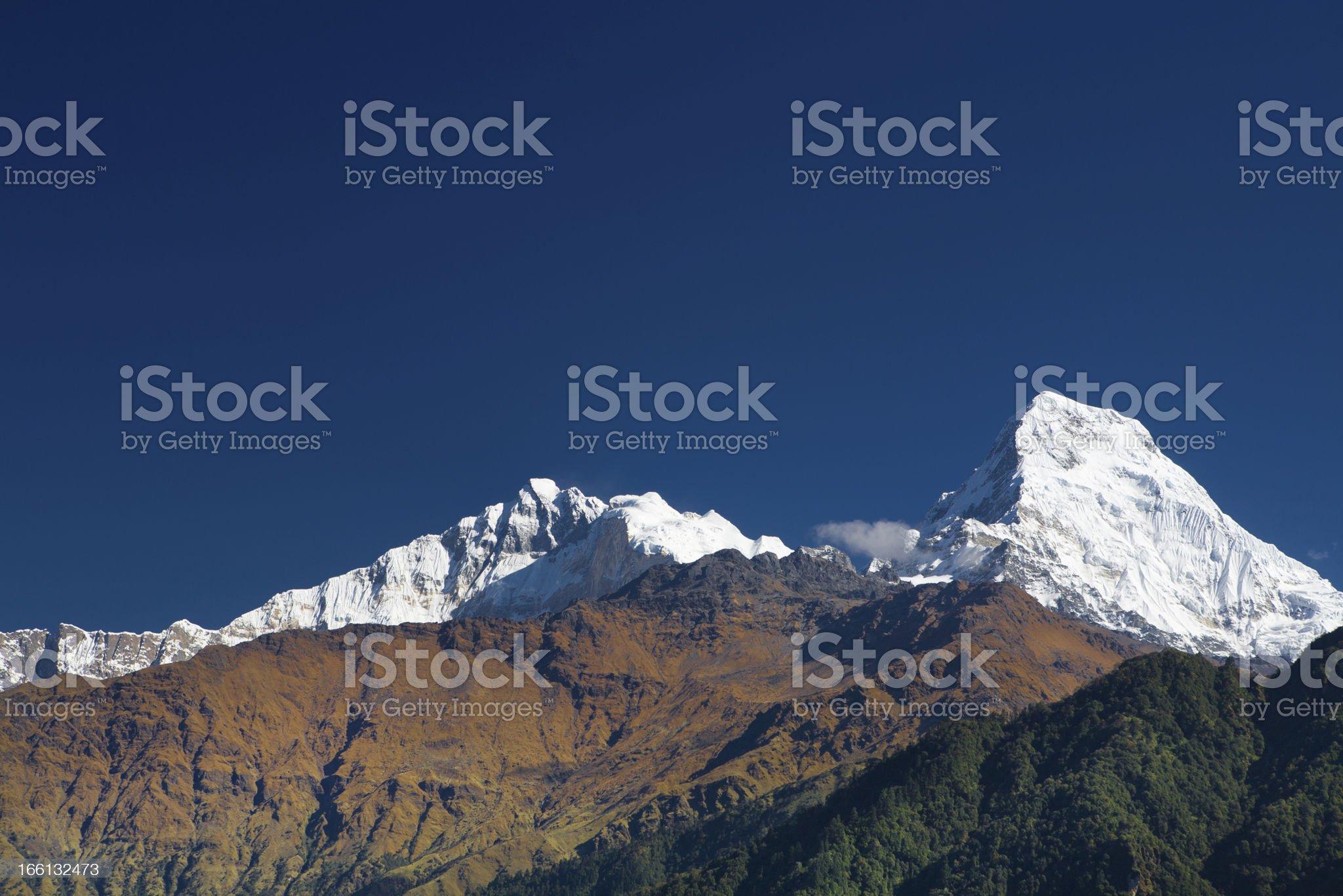 Trekking in Nepal royalty-free stock photo