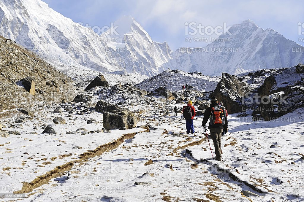 Trekking in Nepal royalty-free stock photo