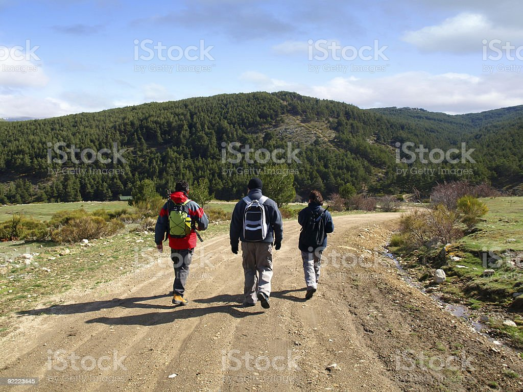 Trekking in the paths of Rascafria royalty-free stock photo