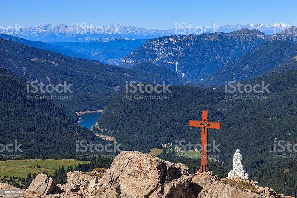 Trekking of the Thinking Christ, Trentino-Alto Adige, Italy royalty-free stock photo