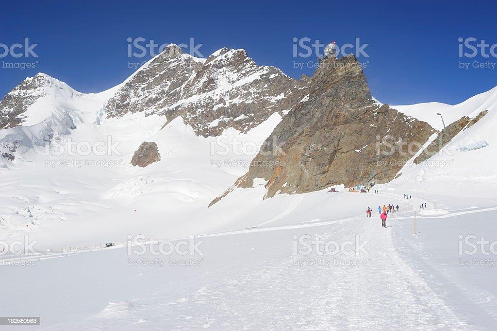 Trekking on Jungfrau Region, Switzerland royalty-free stock photo