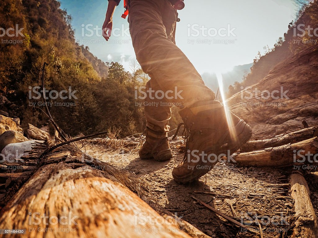 Trekking stock photo
