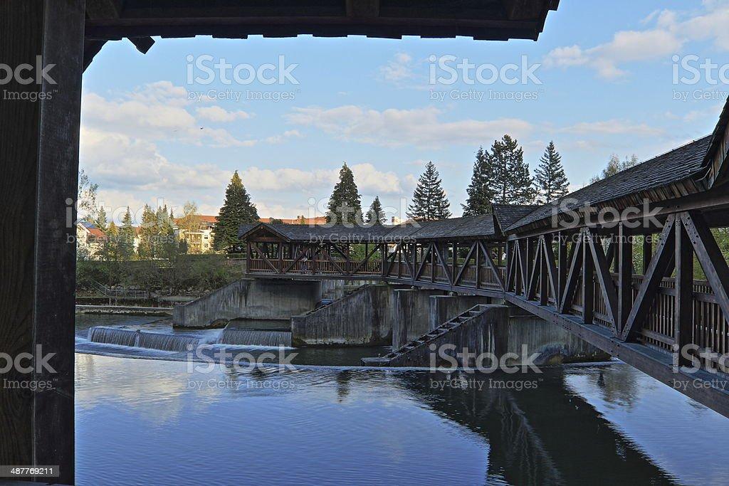 trellis bridge stock photo