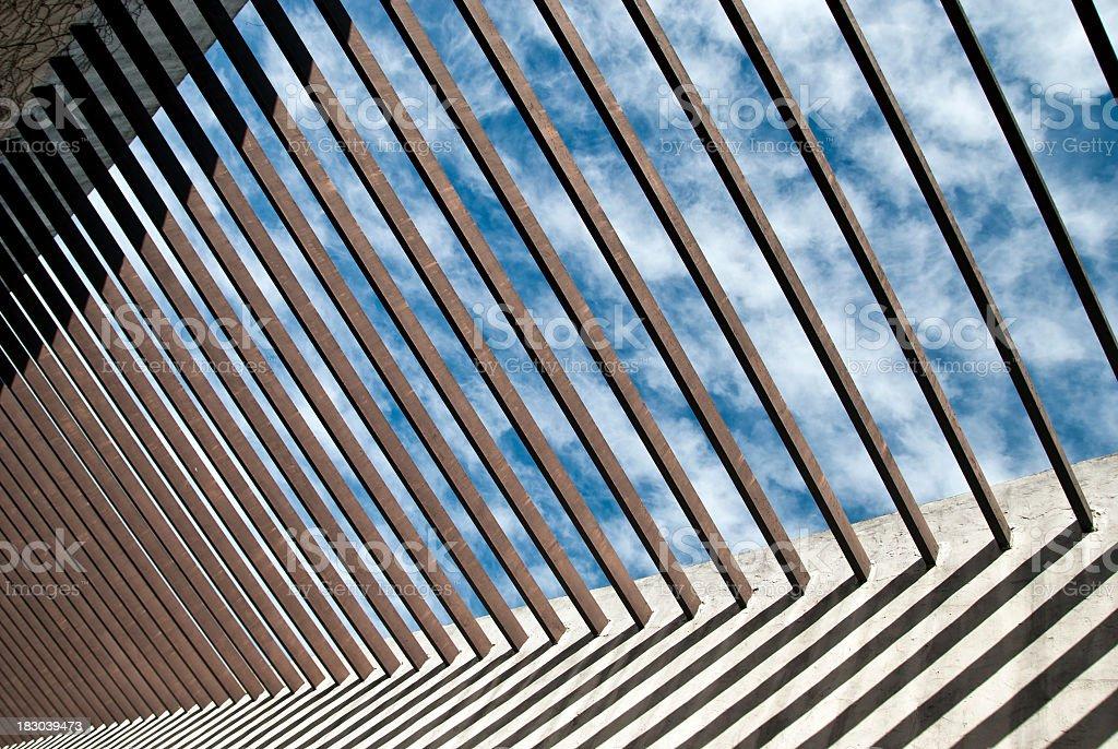Trellis roof stock photo