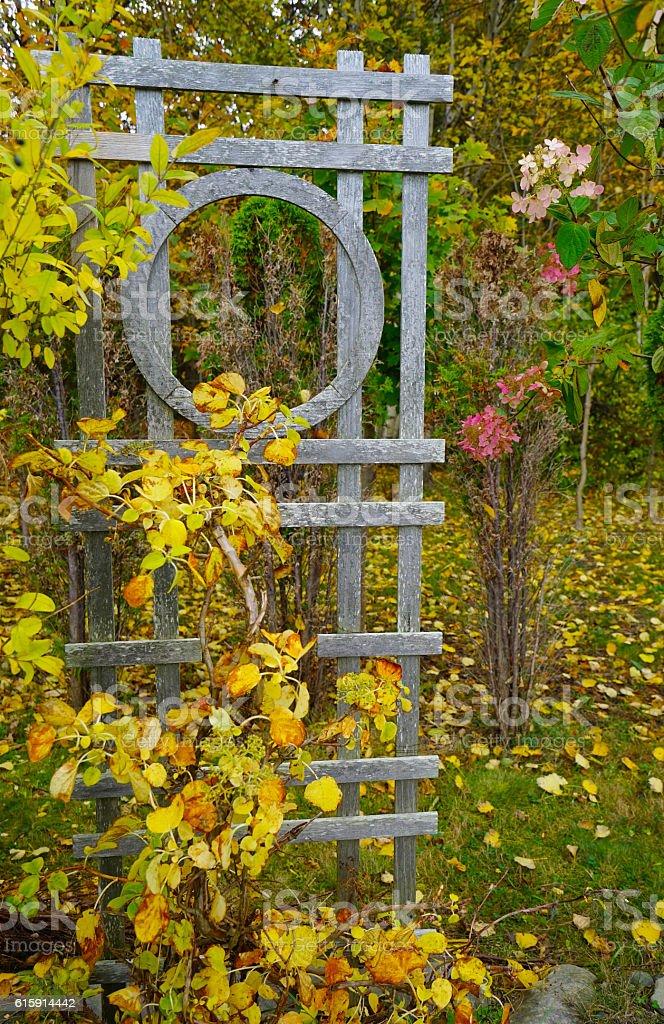 Trellis, Sculpture in Woods stock photo