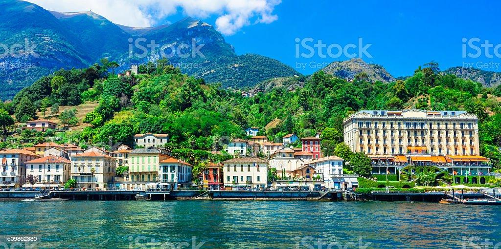 Tremezzina,Lombardy,Italy. stock photo
