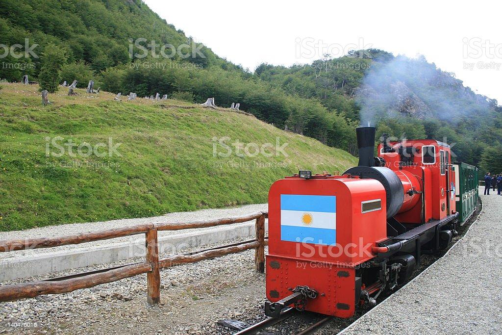 Tren fin del Mundo stock photo
