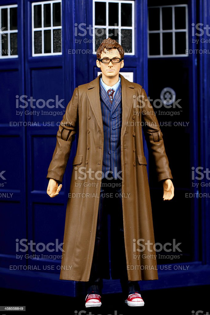 Trench Coat and Time Travel royalty-free stock photo