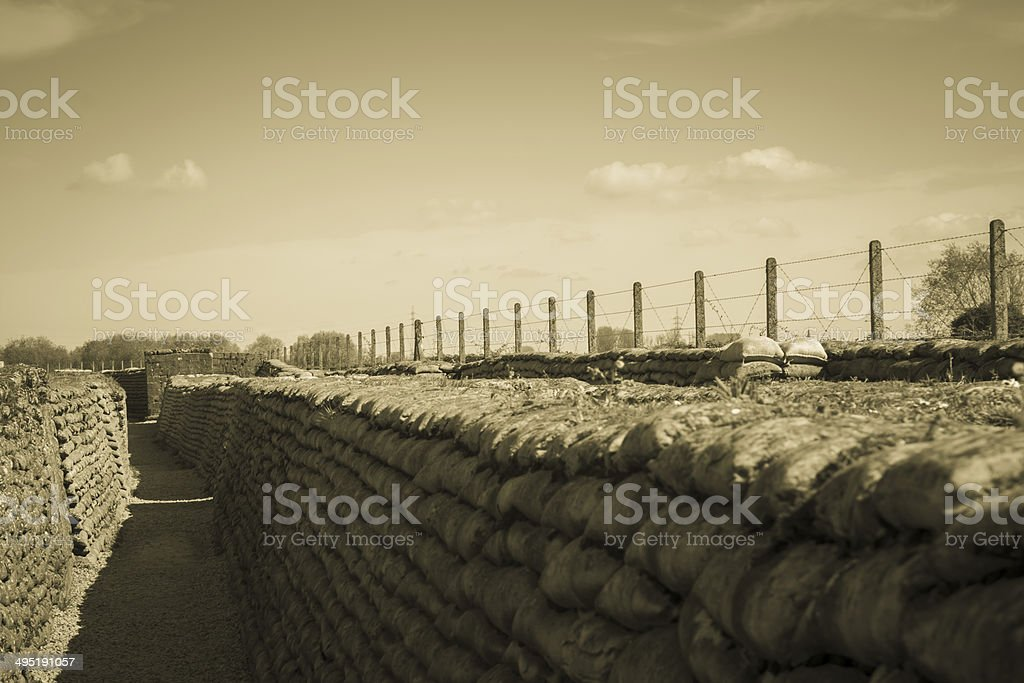 Trench of death world war 1 belgium flanders fields stock photo