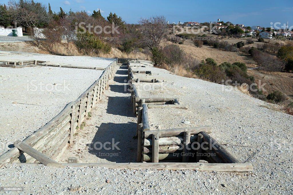 Trenches at Gallipoli , Çanakkale, Turkey stock photo