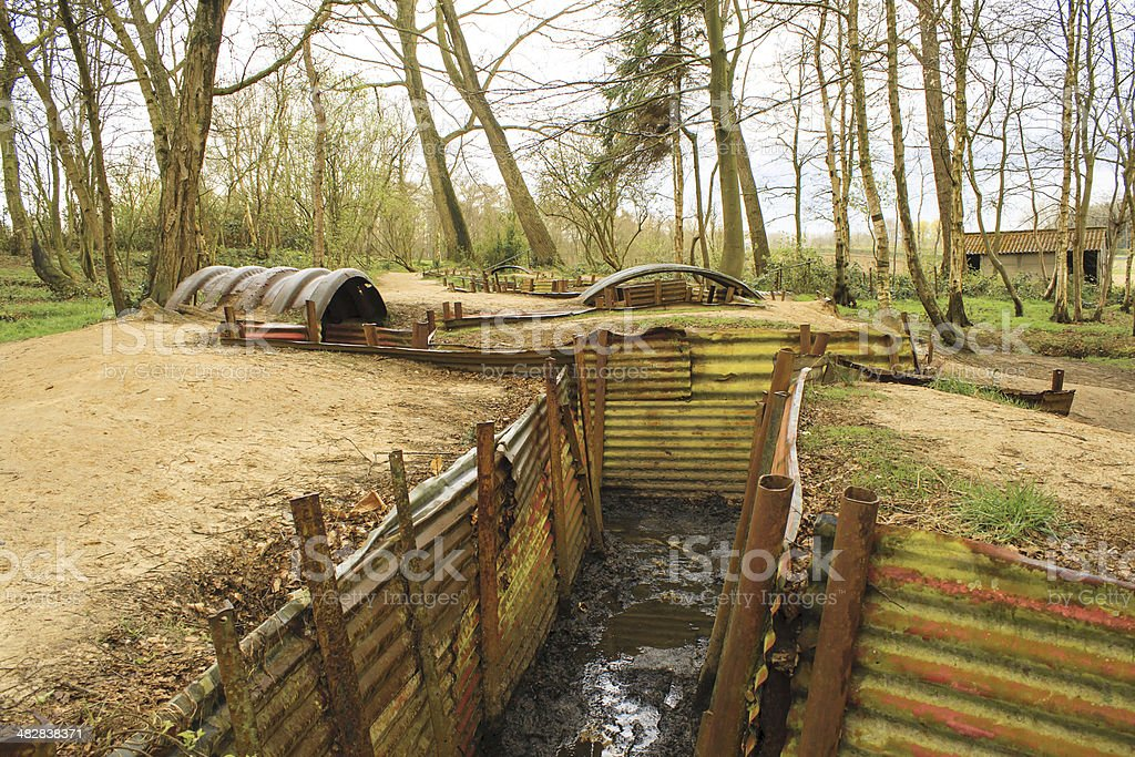 Trenches Flanders Fields Ypres great world war one stock photo