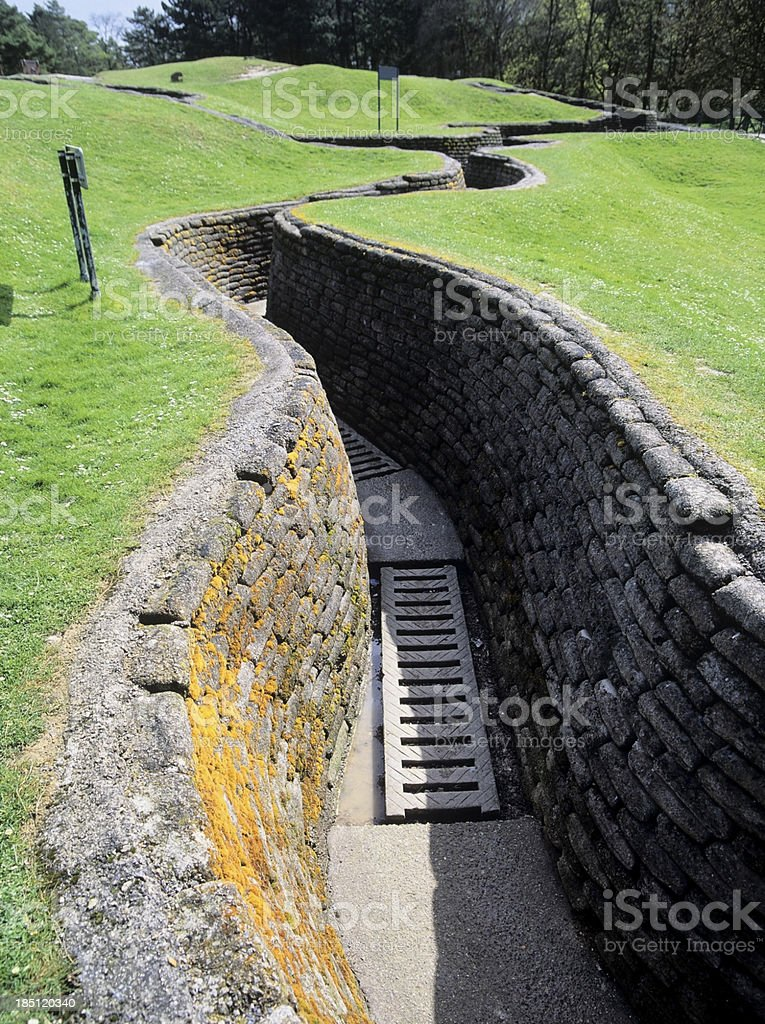 trenches stock photo