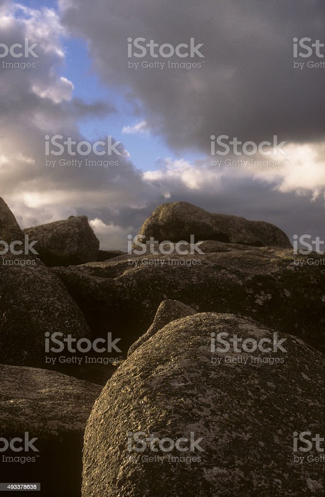 Trencrom Hill stock photo