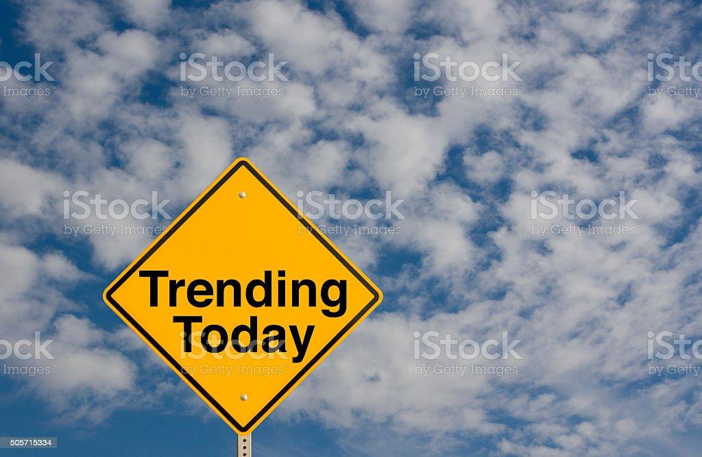 Trending Today stock photo