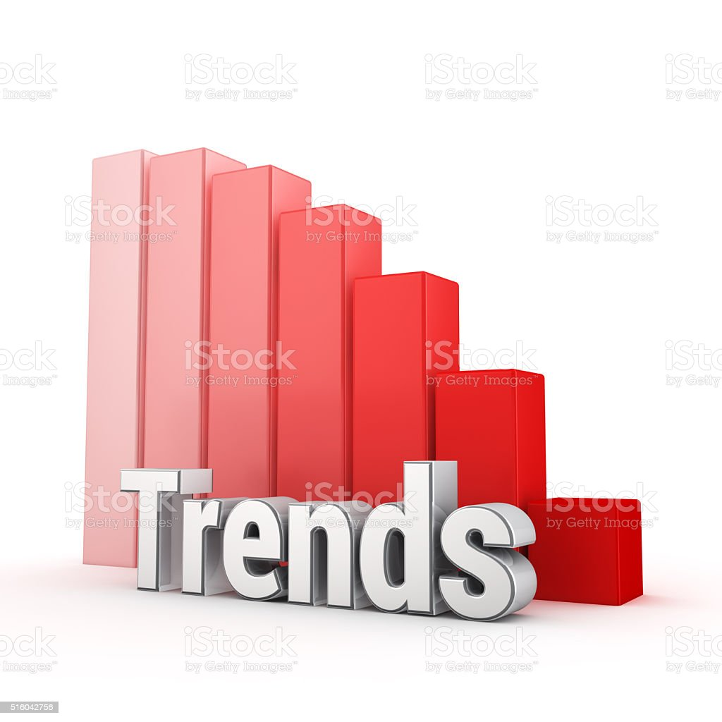 Trends down! stock photo