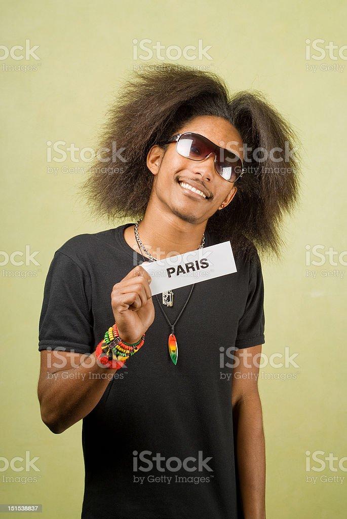 Trendy African American Traveler royalty-free stock photo