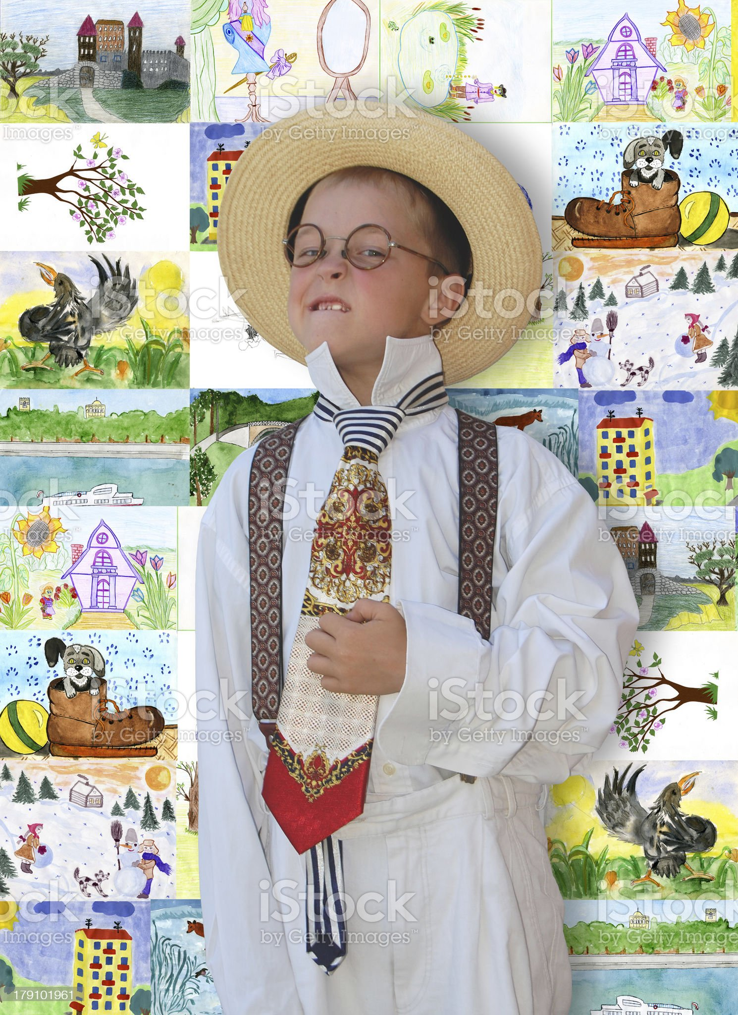 Trendy boy. royalty-free stock photo