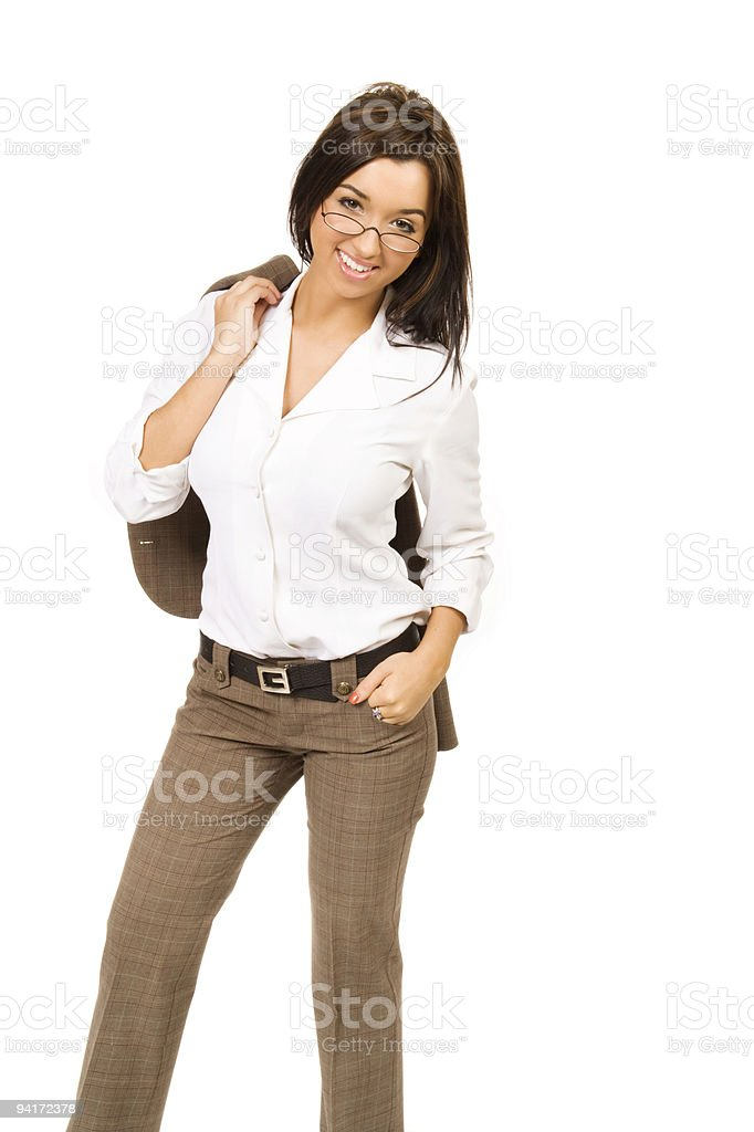 Trendy Casual Young Woman stock photo