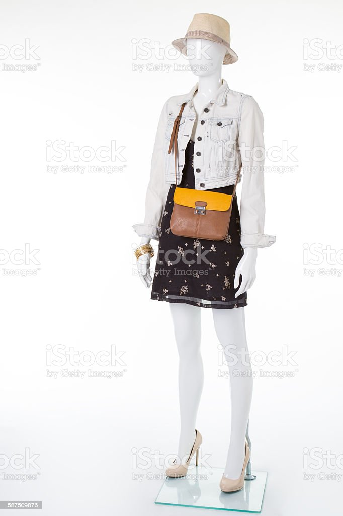 Trendy clothes for the modern girl. stock photo