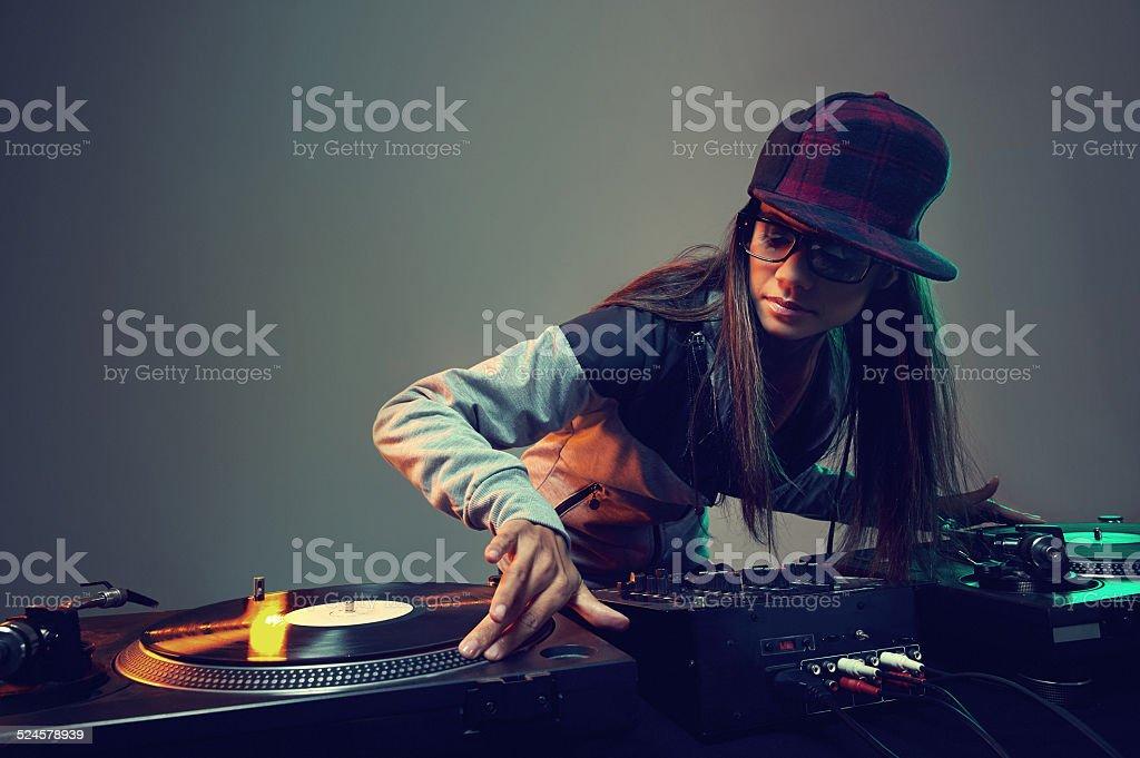 trendy dj stock photo