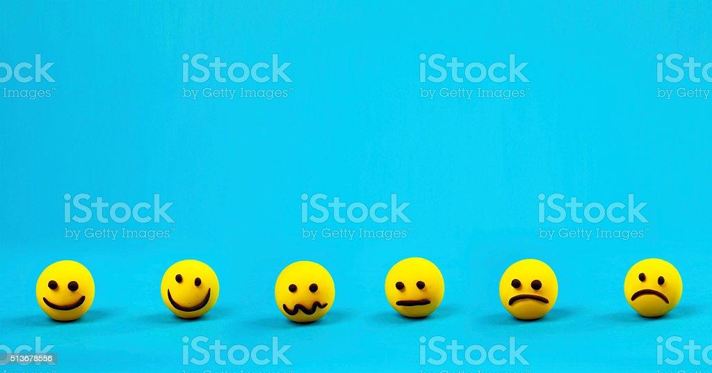 Trendy emoticons stock photo