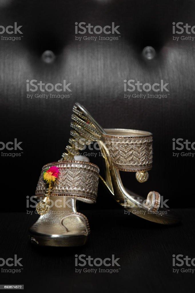trendy footwear stock photo