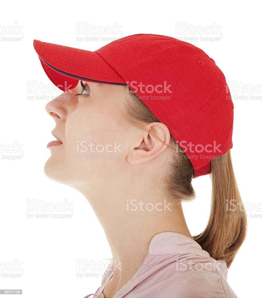 trendy girl with baseball cap royalty-free stock photo