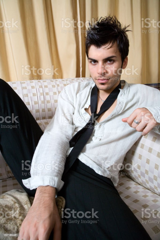 trendy guy relaxing royalty-free stock photo