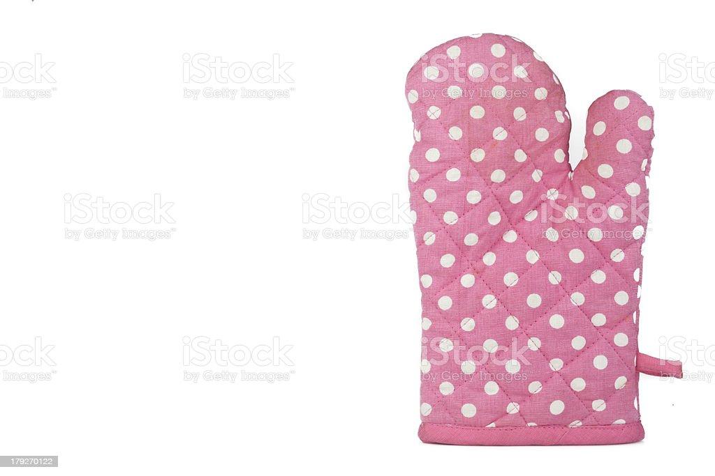 Trendy kitchen glove royalty-free stock photo