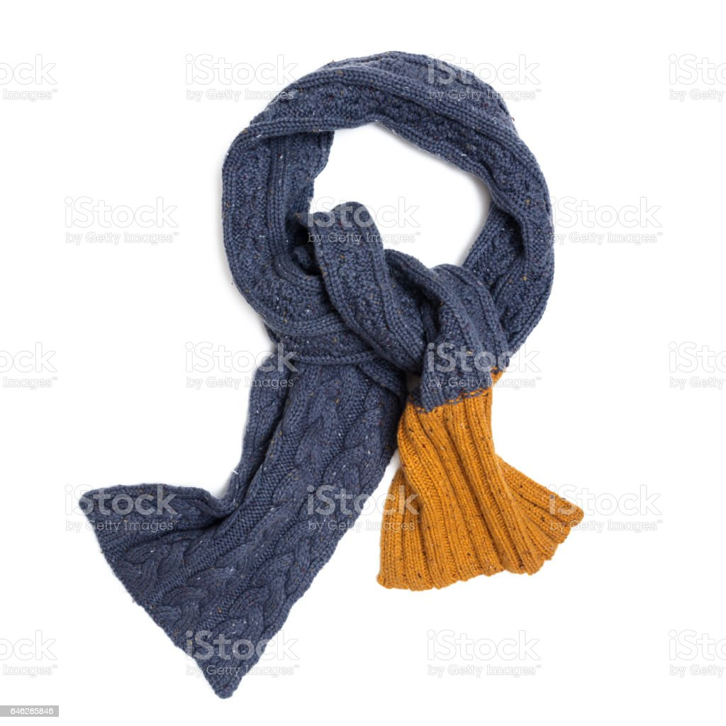 Trendy knitted scarf stock photo