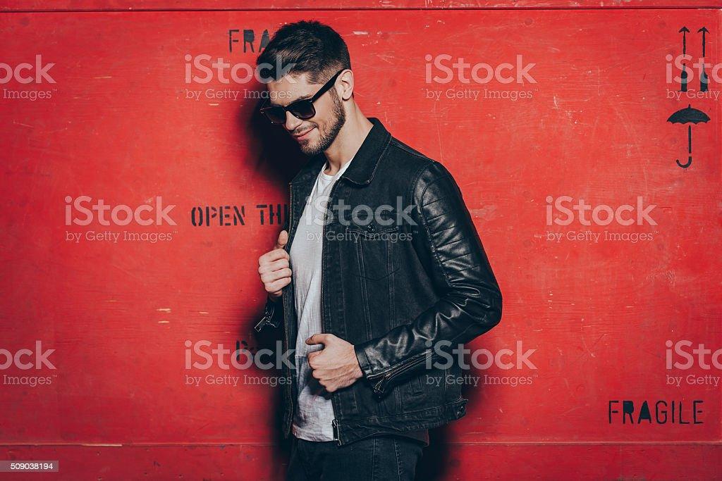 Trendy look. stock photo