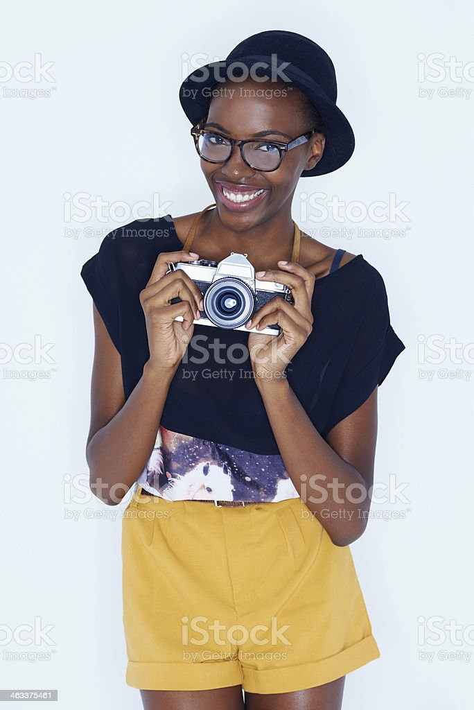 Trendy photographer stock photo