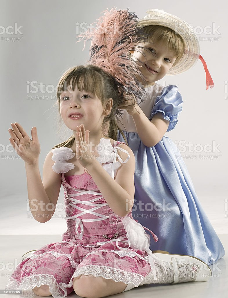 trendy sisters royalty-free stock photo