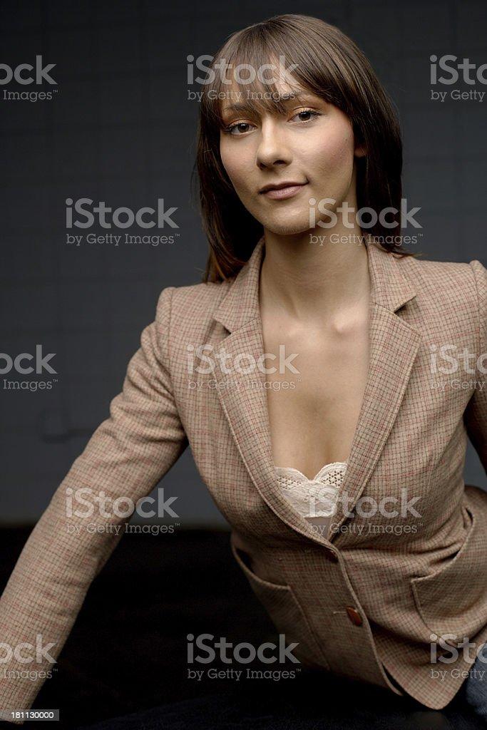 Trendy woman stock photo