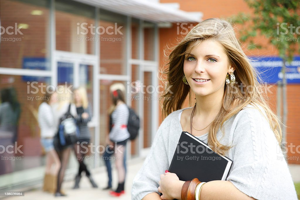 Trendy young university student royalty-free stock photo