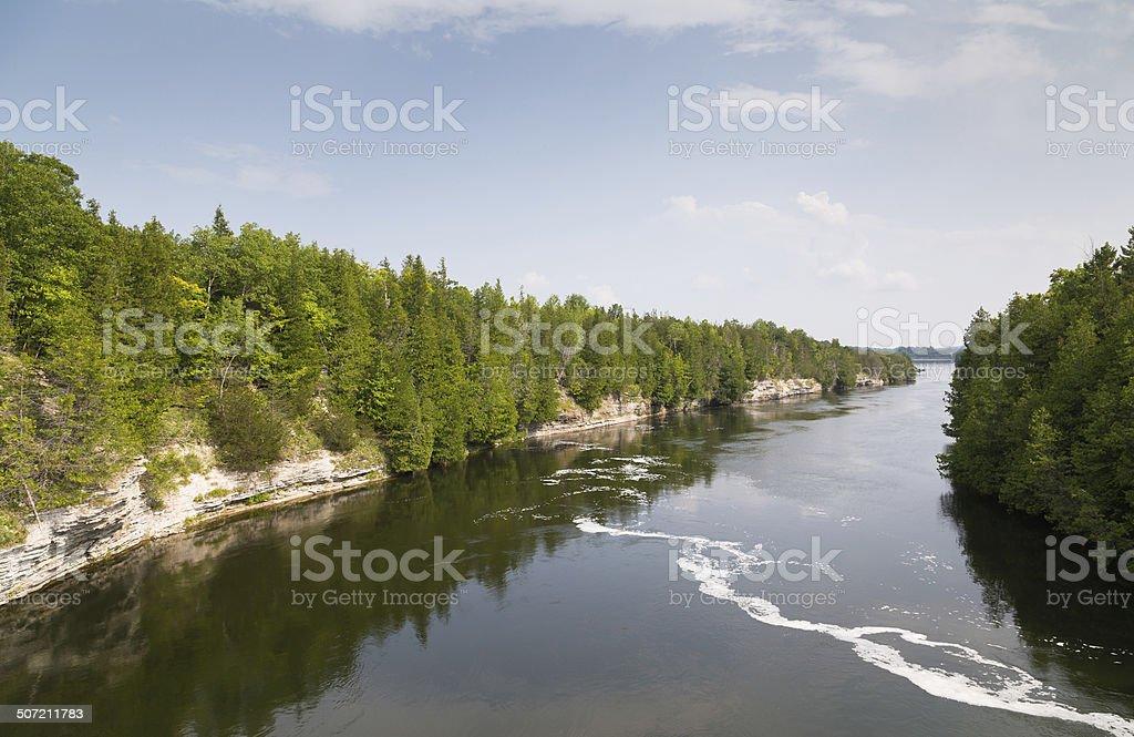 Trent River Ontario stock photo