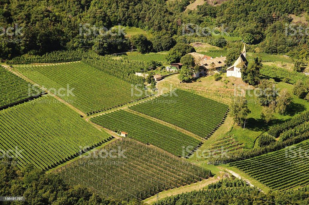 Trentino Alto Adige landscape royalty-free stock photo