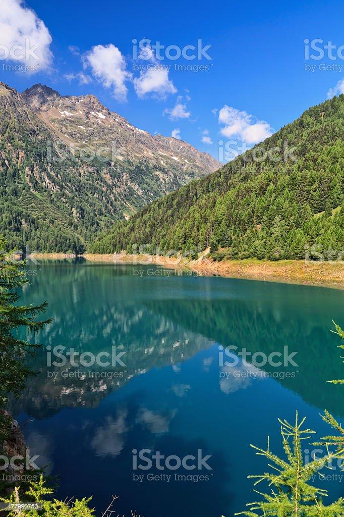 Trentino - Pian Palu lake stock photo