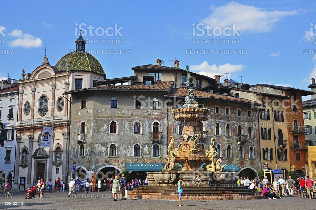 Trento old town, Italy stock photo