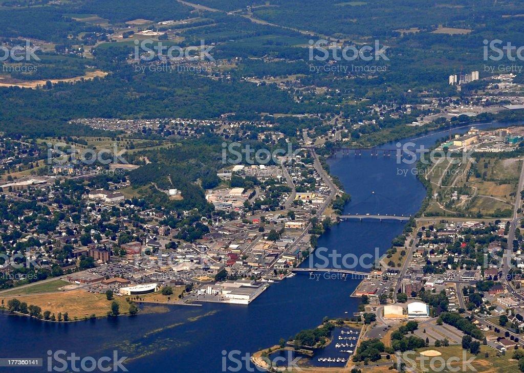 Trenton, aerial stock photo