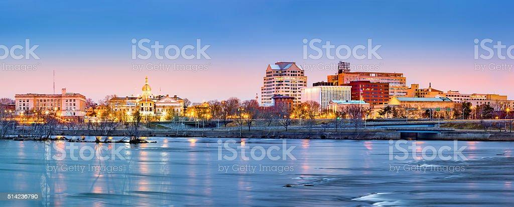 Trenton skyline panorama at dawn stock photo