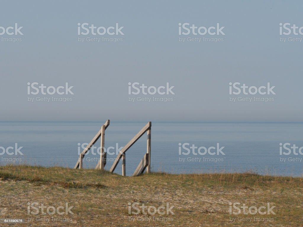 Treppe zum Strand stock photo