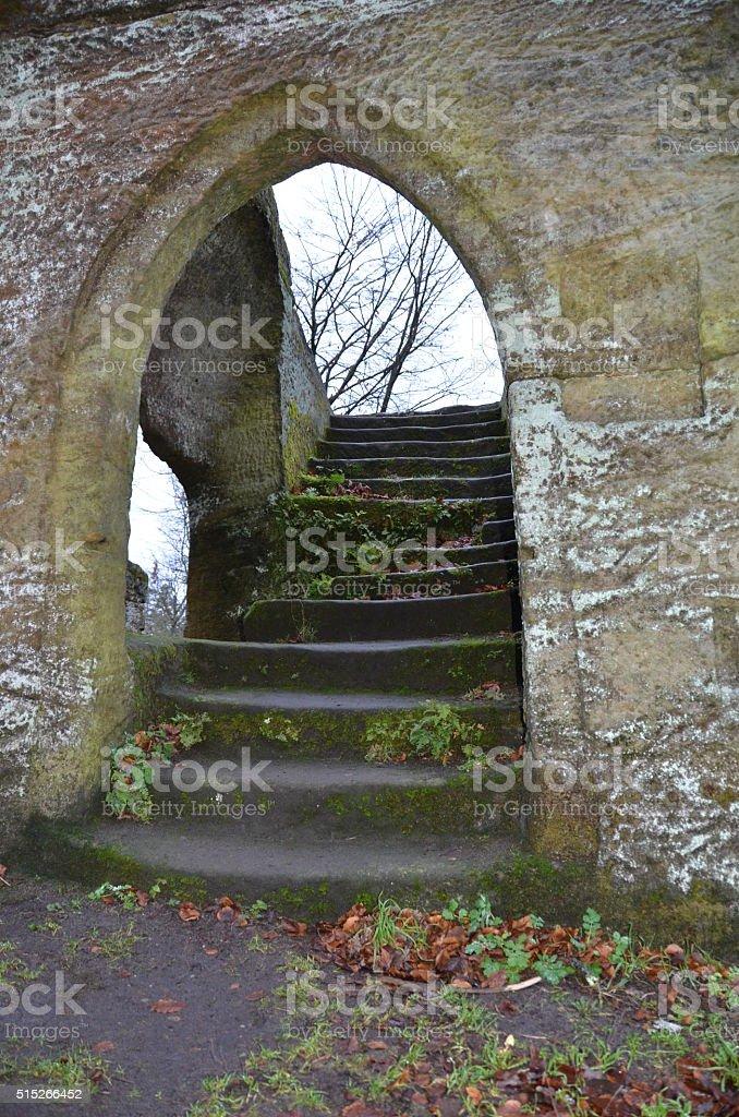 Treppenaufgang stock photo