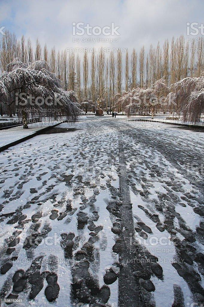 Treptower park stock photo