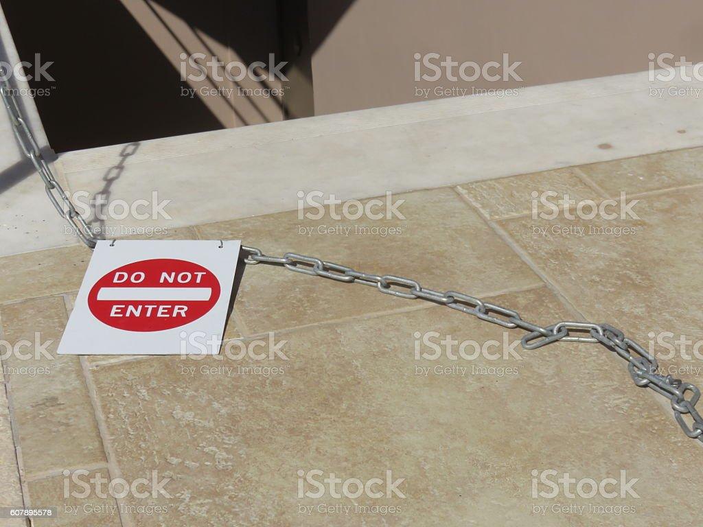 trespassing Concept stock photo